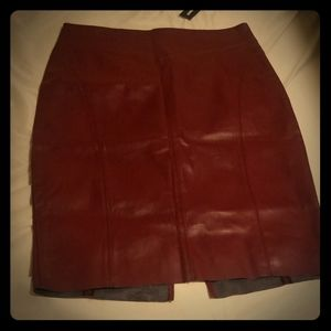 Maroon Leather Express Skirt- NWT!